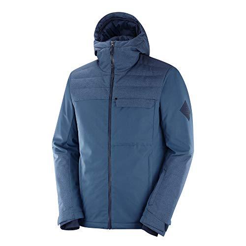 Salomon Men's Standard Deepsteep Jacket, Dark Denim/Night Sky, Medium