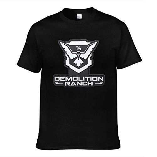 Camiseta para Hombre Demolition Ranch para jóvenes Camisetas de Manga Corta Cool tee Black