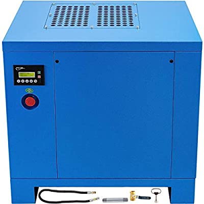 VEVOR Rotary Screw Air Compressor 4kW/5HP Screw Compressor 3 Phase Air Compressor 21cfm Rotary Compressor 116PSI Rotary Screw Compressor with 220V/60Hz 3ph Powerful Motor Spin-on Air Oil Separator from VEVOR