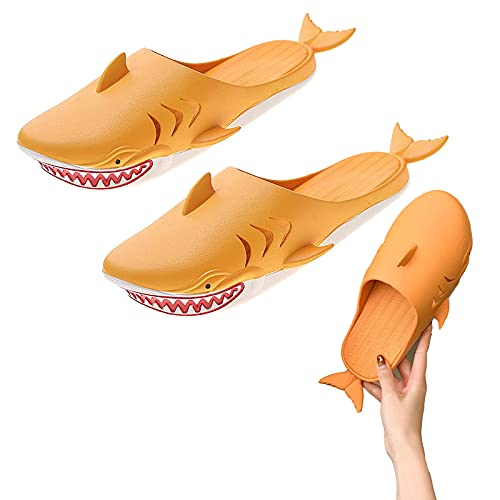 Hai Hausschuhe, Strandsandalen Cartoon und lustiges Design, geeignet für den Innen- und Außenbereich im Sommer. (9.64in)