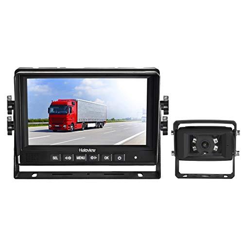 Haloview MC7611 HD 1080P 7 pulgadas sistema digital de observación cableada/sistema de cámara de seguridad/sistema de cámara de visión trasera para camioneta/remolque/camioneta/camioneta