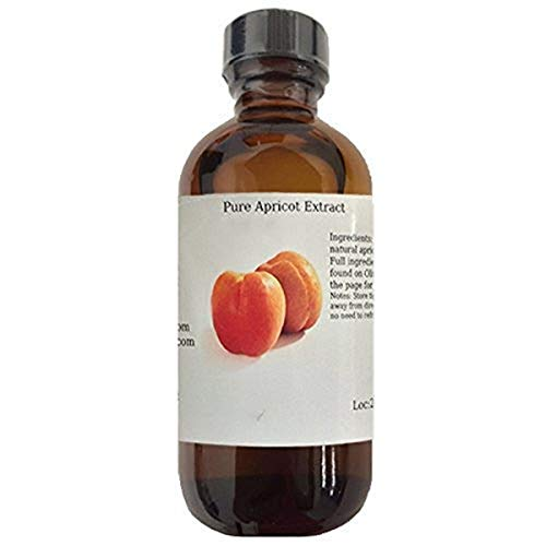 OliveNation pure Apricot Extract - 4 ounces - Gluten free, Sugar free, Great for baking, beverages and ice cream - baking-extracts-and-flavorings
