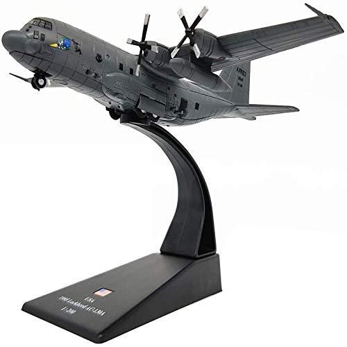 WZRY Modelo de avión, 1: 200 AC-130 Modelo de avión de Ataque, 5.8 Pulgadas × 7.9 Pulgadas, Modelo Militar de Combate de Metal, Modelo de avión Militar, para colección Conmemorativa o decoración