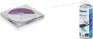 Philips SVC2330 Kit de Nettoyage lentilles DVD/CD & Waytex 73657 Gaz dépoussiérant avec Prolongateur 400 ML Bleu
