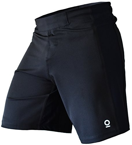 OPTIMAL HUMAN Kampf-Shorts für MMA, BJJ, No-Gi und Muay Thai, Herren, schwarz, XX-Large