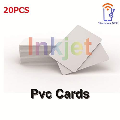20 X Inkjet Bedruckbare PVC ID Karten Kompatibel Mit Epson und Canon Tintenstrahldrucker, CR80 30 MIL Dickes Wasserdichtes Material, Beide Seiten Können Bedruckt Werden – TimesKey