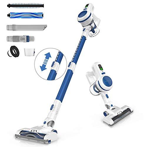 ORFELD Cordless Vacuum, Stick Vacuum Cleaner 4 in 1 with 17Kpa Super Suction, Ultra-Lightweight & Quiet Handheld Vacuum for Home Hard Floor Carpet Car Pet