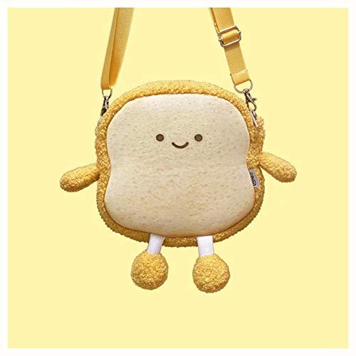 Lifelike Stuffed Interactive Pet Toy,Simulation Cute Bread Toast Backpack Plush Toy,Sloth Stuffed Animal 77inch 18x18cm Yellow