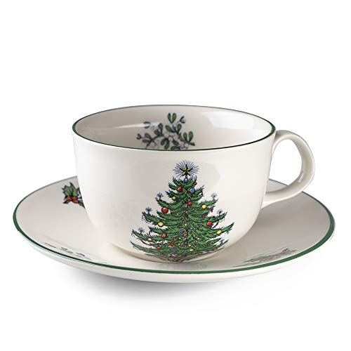Cuthbertson Original Christmas Tree Traditional Teacup & Saucer