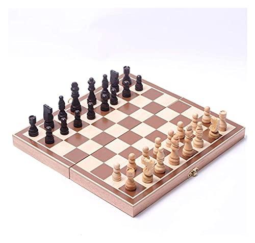 Juego de ajedrez de ajedrez, Tabla de ajedrez portátil, Juego de Rompecabezas de Camping en casa (Size : 30x30cm)