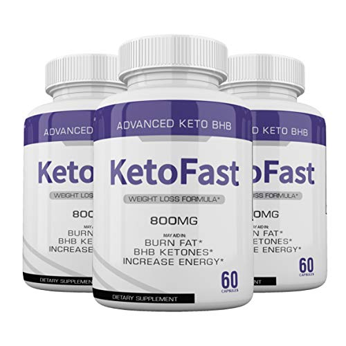 (3-Pack) Keto Fast Diet Pills BHB Advanced Ketogenic Keto Fast Burn Ultra Weight Management Capsules 700mg Pure Keto Fast Supplement for Energy, Focus Boost Exogenous Ketones for Rapid Ketosis 1
