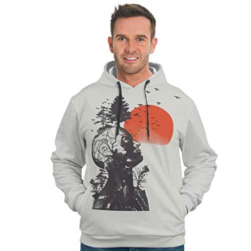RNGIAN Mens Oversized Sweatshirts Hoodies Alan\'s Hangover Langarm Sweatshirt Pullover Rundhals Für Frauen White XXL