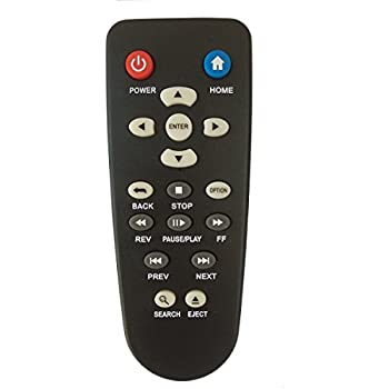 Universal Remote for Western Digital Live HD TV Streaming Media Player Plus Hub WD 1st 2nd 3rd Gen Remote Control