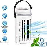Persönlicher Luftkühler Mini Mobile Klimaanlage USB Klimaanlagenlüfter,4 in 1 Klimageräte leiser...