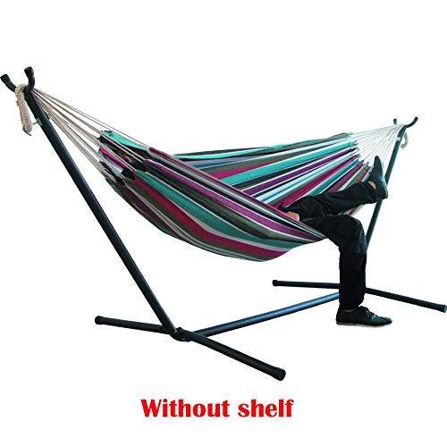 Ajcwhml Hamac de lit à Rayures en Toile épaisse, Chaise Suspendue à Rayures Confortable et Durable, Grand hamac Suspendu B