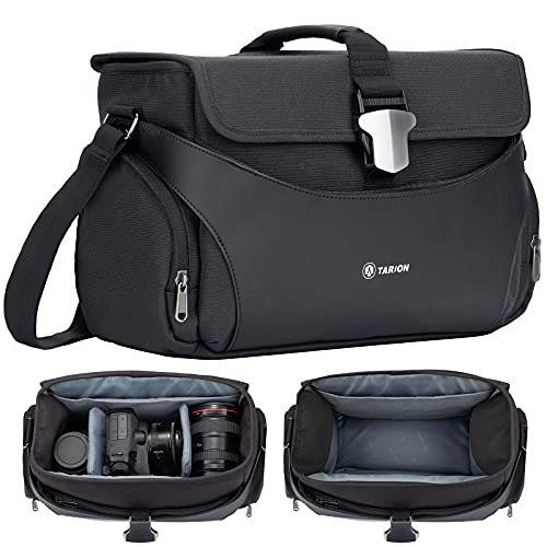 TARION TYS-M Bolsa de Hombro para cámara Bolsa de Mensajero para cámara Bolsa de fotografía antichoque para cámaras SLR DSLR, Lentes, Accesorios