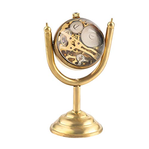 Reloj de Bolsillo mecánico de Copa de Premio de Oro Giratorio de Lujo, decoración de Escritorio de Oficina de casa de Globo Suave Transparente como coleccionables