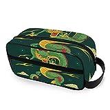 LORONA - Neceser de Viaje con diseño de dragón Chino Tradicional para Hombres y Mujeres, Bolsa de Maquillaje Ultraligera y portátil de Gran Capacidad