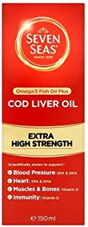 Seven Seas Cod Liver Oil Extra High Strength Liquid, 150ml by Seven Seas