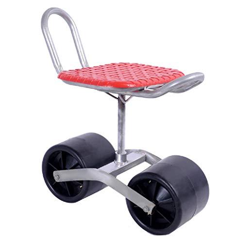 Scooter Rodante Con Carro/Jardín Con Asiento/Ruedas, Taburete Para Plantar - Asiento Rotación De 360 ° Para Desmalezar, Jardinería Y Cuidado Césped Aire Libre Taburete Móvil Silla Trabajo