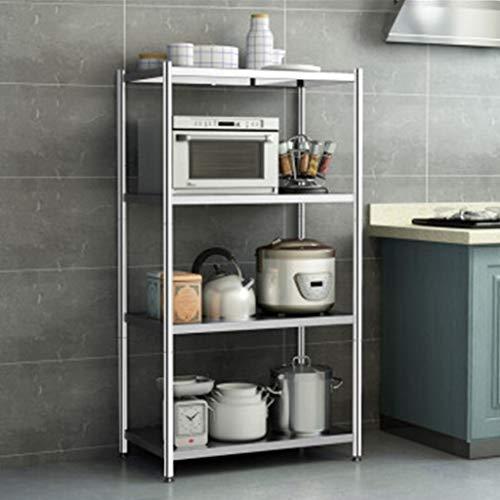 Estante de cocina acero inoxidable olla estante estante doméstico microondas horno estante de piso almacenamiento almacenamiento estante horno estante Multi-capa longitud 60 ancho 35 altura 113 cm