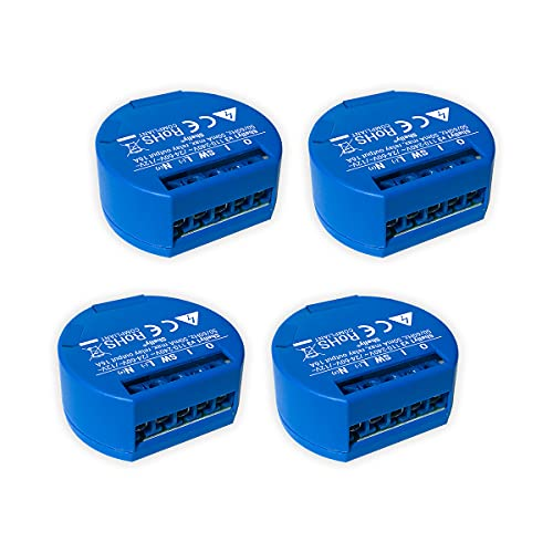 SHELLY 1 One Relay Switch Wireless WiFi Home Automation iOS Android Application - 4 Pack NON UL