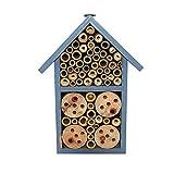 Nido De Insectos De Madera Casa De Insectos Abejas Silvestres Mariquitas Crisópidas del Jardín del Balcón Jardín Al Aire Libre Pintado Honeycomb Bee Hotel 12 7.5 23cm