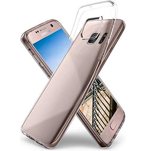 Ylife Hülle Kompatibel mit Samsung Galaxy S7,Anti-Vergilbung Slim Transparent Hochwertig TPU Weiche Handyhülle,Anti-Scratch Stoßfest Silikon Schutzhülle für Samsung Galaxy S7