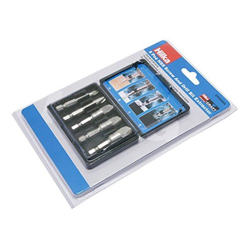 Hilka 37840005 HSS Screw and Drill Bit Extractor Set, Set of 5 Pieces