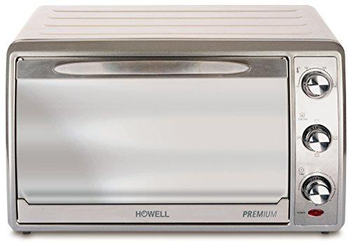 HOWELL 1 Forno Elettrico Premium ventilato 28 Litri, 1380 W, 30 Decibel, Argento