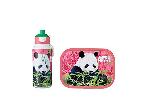 Mepal Pausenset Campus Animal Planet Panda – Trinkflasche und Brotdose mit Bento-Einsatz – ideal für Schule und Freizeit – spülmaschinenfest, abs, 0 mm, 2