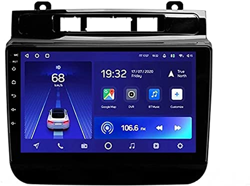 Android 10.0 Radio GPS Navegación para Volk-swagen Touareg 2010-2018 IPS Pantalla táctil Coche Estéreo Sat Nav Soporte de Control del Volante BT Mirror-Link FM 4G WiFi