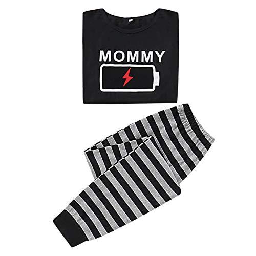 Tabpole Conjunto de Pijamas a Juego con La Familia Ropa para Mujer Hombre Niño Bebé Ropa de Dormir con Estampado de Batería