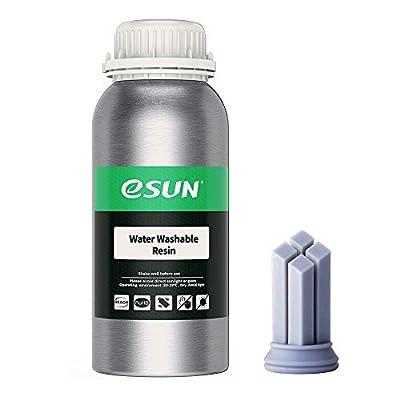 eSUN Water Washable 3D Printer Rapid Resin, LCD UV-Curing Resin 405nm Standard Photopolymer Resin for Photon LCD 3D Printer Liquid 3D Resin, 500g Grey