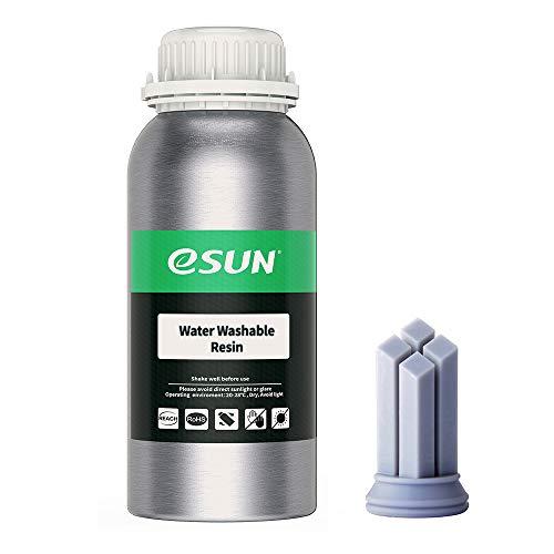 eSUN LCD UV 405nm Wasser Waschbares Harz 3D Drucker Rapid Resin für LCD 3D-Drucker Schnell UV-Härtung Photopolymer Kunstharz Flüssige 3D-Druckmaterialien, 500g Grau