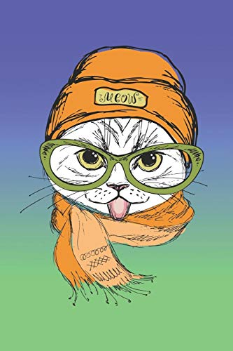 Notizbuch | Notebook | Journal: Süßes Katze, Kätzchen | Cover 6x9 matt | 108 Seiten cremefarben Punktgitter | Perfektes Geschenk für Katzenliebhaber, Katzenfreunde (German Edition)