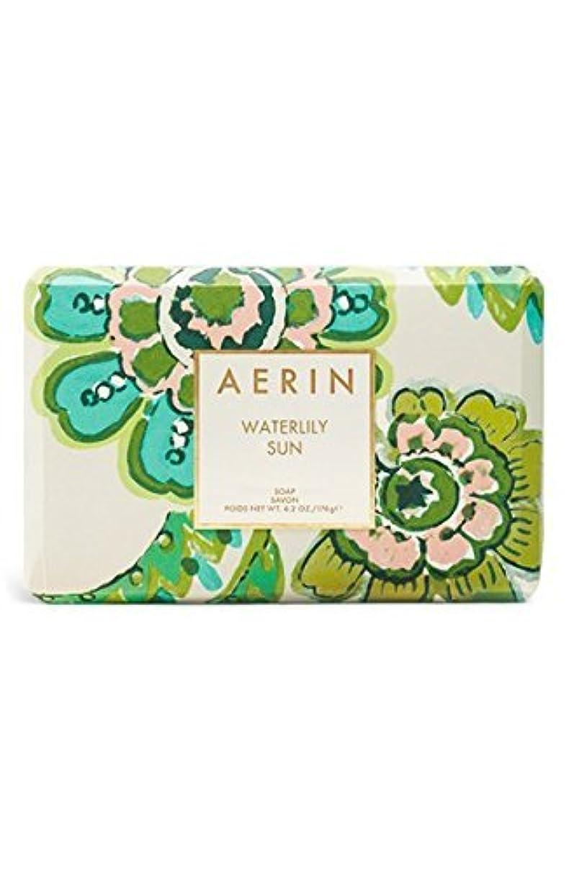 データベース接地生き残りAERIN 'Waterlily Sun' (アエリン ウオーターリリー サン) 6.2 oz (50ml) Body Soap 固形石鹸 by Estee Lauder for Women