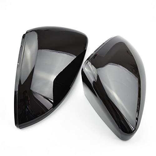 NUIOsdz Coperchi per specchietti Coperchi per specchietto retrovisore Custodia per specchietto in Carbonio Nero Lucido Coperchio Cromato Opaco 2 Pezzi, per VW Golf MK7 7.5 GTI 7 7R