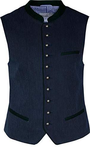 MarJo - Herren Trachten Weste in dunkelblau, Agonis (709200-020041), Größe:58, Farbe:dunkelblau (0142)