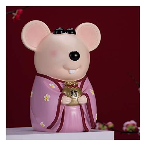 Zunruishop spaarvarken creatieve raad Piggy Bank hars Money Bank munt grote capaciteit Piggy Bank Huis woonkamer decoraties spaarvarken voor meisjes