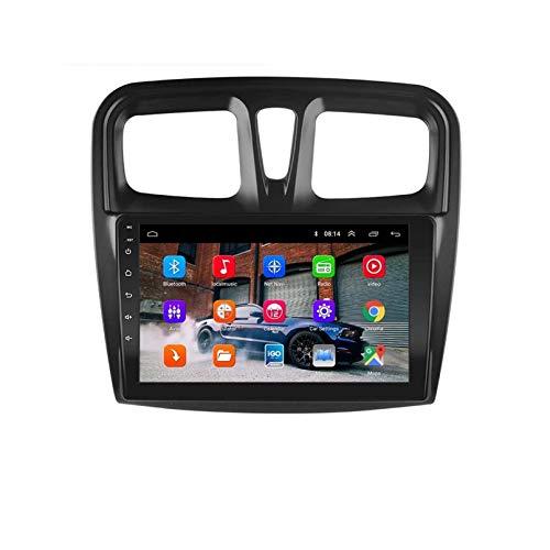 2 DIN Android 9.1 2.5D Player DVD Del Automóvil De Quad Core Para Renault Logan 2 SANDERO 2 2014-2019 Audio GPS Radio Directivo Multimedi(Size:9 inch screen,Color:WIFI:1GB+16GB)