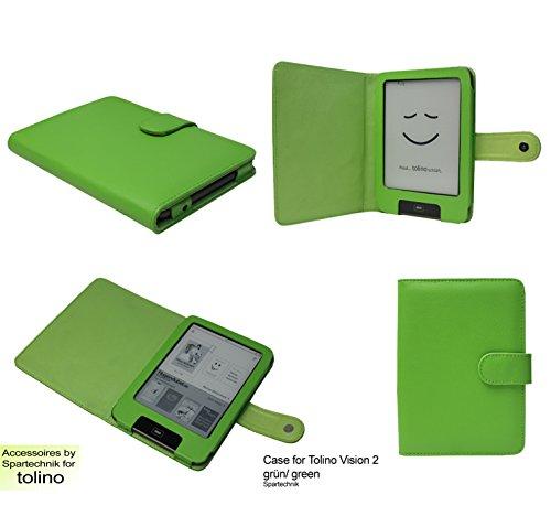 Spartechnik Tasche für Tolino Vision Vision 2 Vision 3 HD Vision 4 HD von Bertelsmann Weltbild Thalia Telekom Hugendubel - bestes Case für Tolino Vision II E-Book Reader - grün/Green