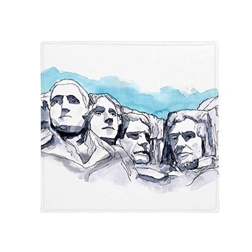 DIYthinker Americana Rushmore National Memorial Antideslizante Suelo Pet Square Mat Baño Sala...