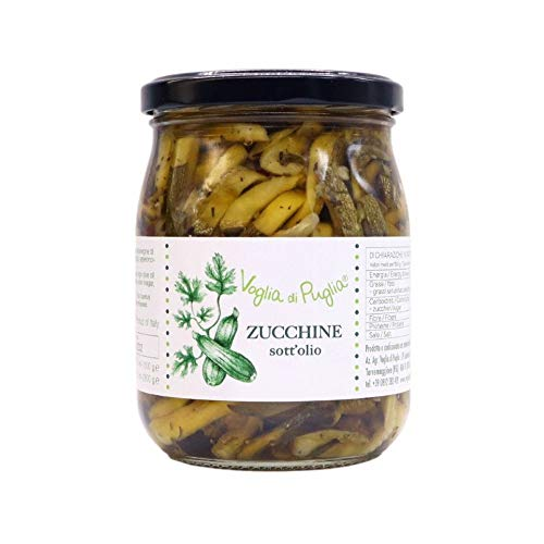 Voglia Di Puglia Zucchine Italiane A Fettine Sottolio In Olio Extravergine Di Oliva 1 kg