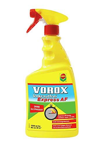Compo VOROX Unkrautfrei Express AF, Bekämpfung von Unkräutern an Zierpflanzen, Obst und Gemüse, Anwendungsfertig, (2 x 1 Liter)