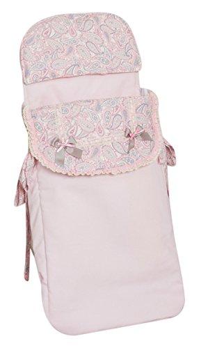 Babyline Caramelo - Saco de 3 usos para capazo y silla, color rosa