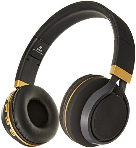 Sentry Industries BT300 Bluetooth Stereo Headphones with Mic, Black