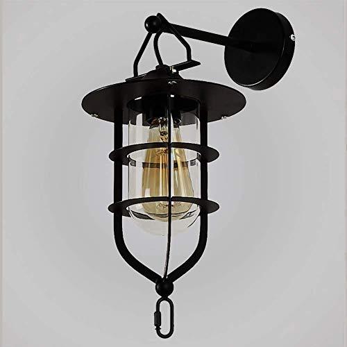 Wandlamp, lampenkooi, lampenkooi, vendimie, montagehandleiding (mogelijk niet beschikbaar in het Nederlands). niet in het Duits), ongeëvenaarde stijl, industriële kwaliteit, romantische glazen wand, metaal + licht.