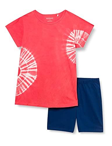 Schiesser Mädchen Schlafanzug kurz Pyjamaset, Koralle, 176