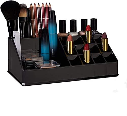 erddcbb Schmuckbox Damen Kosmetik Aufbewahrungsbox Acryl Kosmetik Organizer Make Up Kit für Lippenstift, Nagellack, Kosmetikutensilien, Transparent Standard (A)